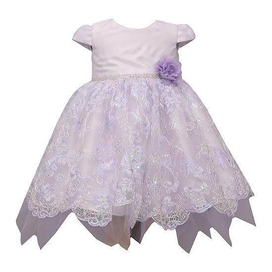 Bonnie Jean Baby Girls Short Sleeve Floral A-Line Dress