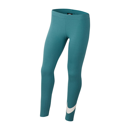 nike leggings teal