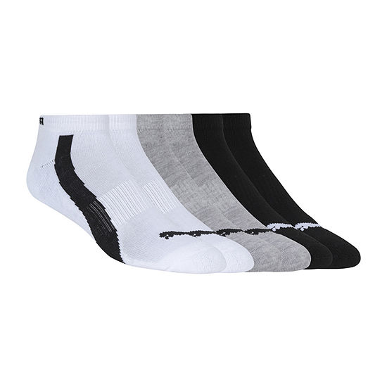Puma Mens 6 Pair Low Cut Socks