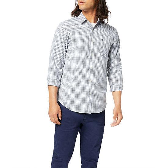 Dockers Mens Long Sleeve Plaid Button-Down Shirt