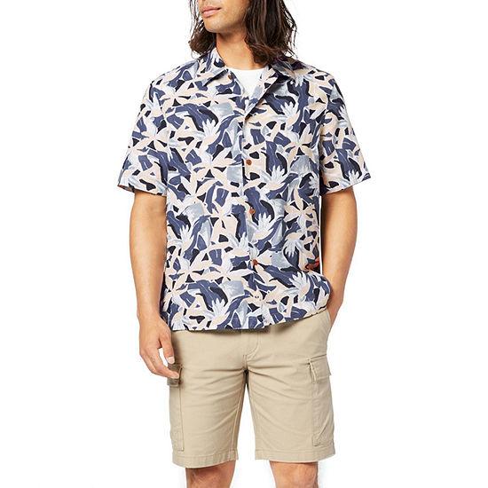 Dockers Mens Short Sleeve Plaid Button-Down Shirt