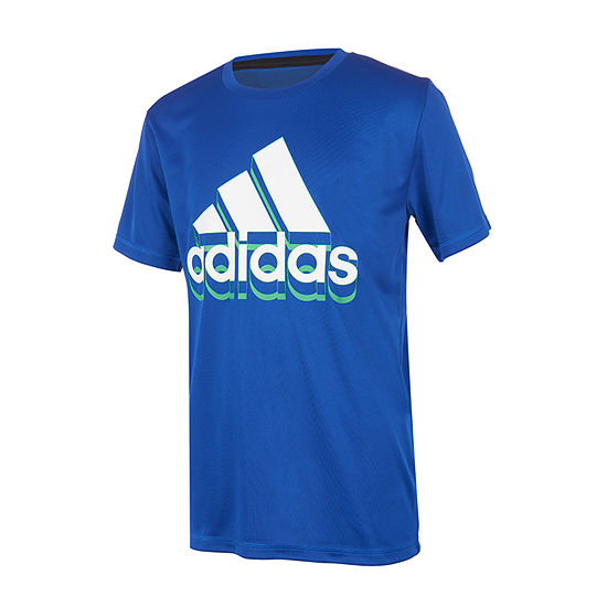 adidas Boys Round Neck Short Sleeve Graphic T-Shirt