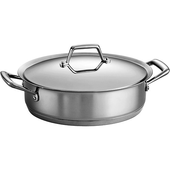 Tramontina® Gourmet Prima 5-qt. Tri-Ply Stainless Steel Covered Casserole