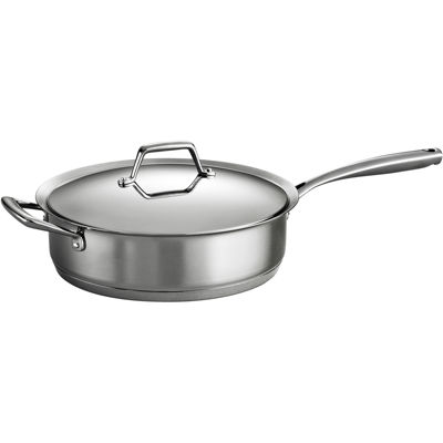 Tramontina® Gourmet Prima 5-qt. Tri-Ply Stainless Steel Covered Sauté Pan