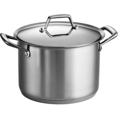 Tramontina® Gourmet Prima Tri-Ply Stainless Steel Covered Stock Pot