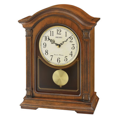 Seiko Traditional Classics Pendulum Cream Mantel Clock-Qxq032blh