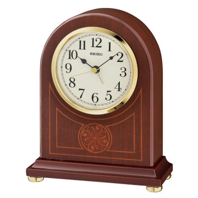Seiko White Table Clock Qxe057blh