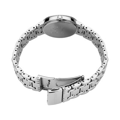 Seiko Crystal Womens Silver Tone Bracelet Watch-Sup359