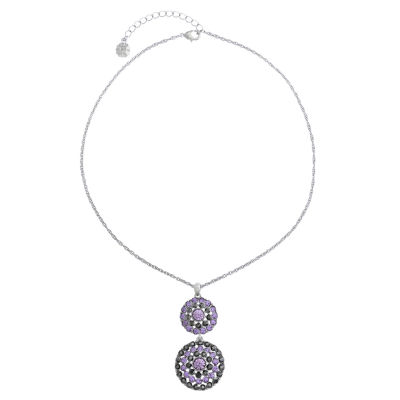 Monet Jewelry Womens Purple Pendant Necklace