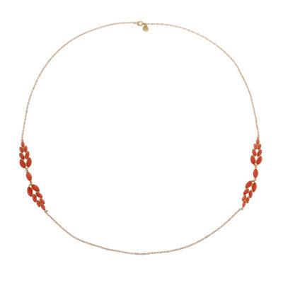 Monet Jewelry Womens Orange Strand Necklace