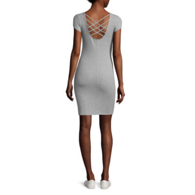 Decree Cross Back Bodycon Dress - Juniors