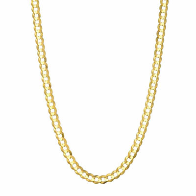 """14K Yellow Gold 3.6 MM Curb Necklace 22"""""""