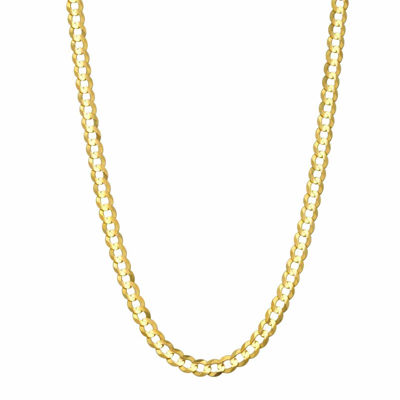 14K Yellow Gold 3.6 MM Curb Necklace 26""