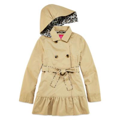 Pink Platinum Classic Trench Raincoat 7-16