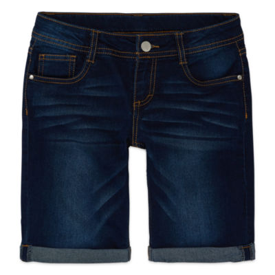 Total Girl Denim Bermuda Shorts - Big Kid Girls Plus