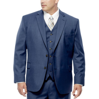 Stafford Travel Wool Blend Stretch Suit Jacket Big and Tall