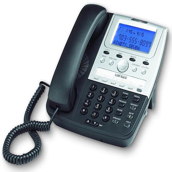 Cortelco ITT-2700BK Feature Line Corded Telephone with Caller ID - Black