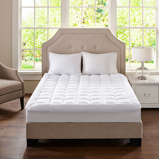 Madison Park Cloud Soft Plush Waterproof Quilted Mattress Pad