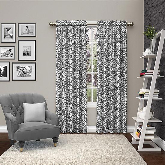 Ellery Homestyles Pinkney Light-Filtering Rod-Pocket Curtain Panel