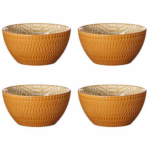Pfaltzgraff Ikat Pattern Set of 4