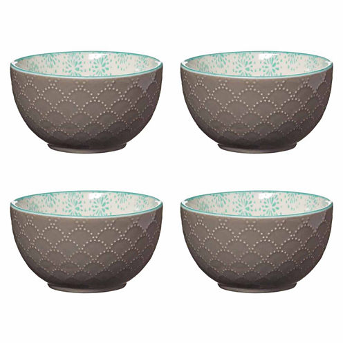 Pfaltzgraff Aqua Starburst Set of 4