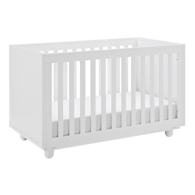 Status Violet 3-in-1 Convertible Crib - White