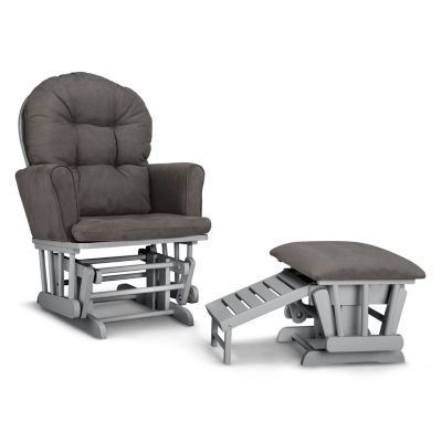 Graco Parker Semi-Upholstered Glider and Ottoman - Gray