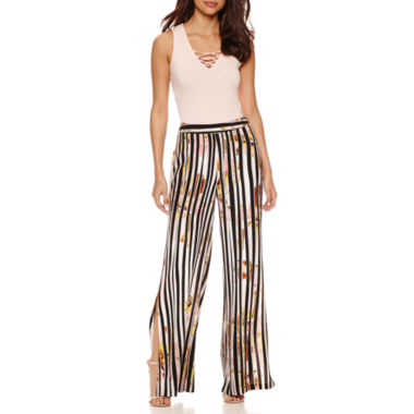 jcpenney.com | Bisou Bisou Sleeveless Lace Up Bodysuit or Palazzo Pants