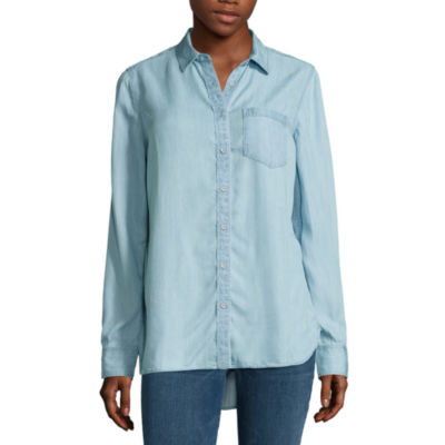a.n.a Button Front Shirt