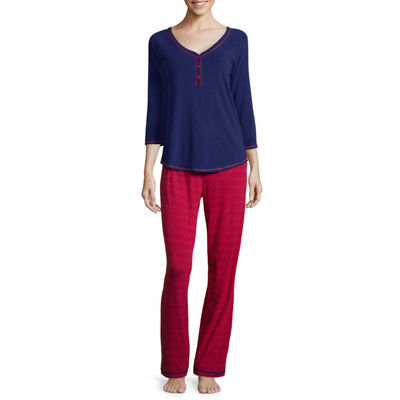 Sleep Chic® 3/4-Sleeve Knit Pajama Set