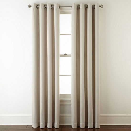 JCPenney Home Pasadena Blackout Grommet-Top Single Curtain Panel