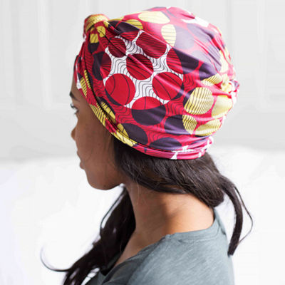 Grace Eleyae Zino Satin-Lined Knot Turban