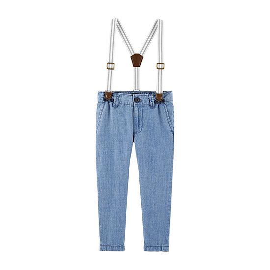 Oshkosh Suspender Boys Pull-On Pants - Baby