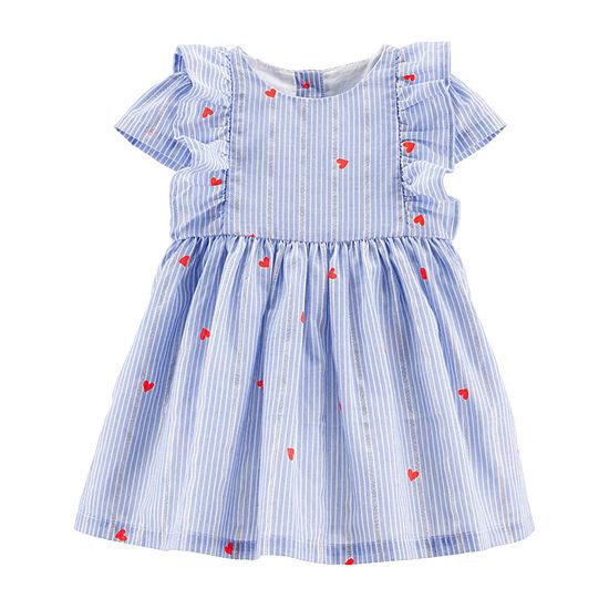 a93da374f Oshkosh Short Sleeve A-Line Dress - Baby Girls - JCPenney