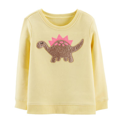 Oshkosh Long Sleeve Round Neck T-Shirt-Toddler Girls