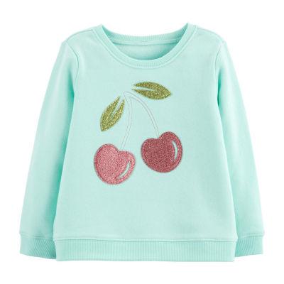 Oshkosh Long Sleeve Round Neck T-Shirt-Toddler Girls