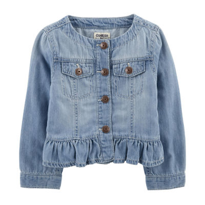 Oshkosh  Peplum Girls Denim Jacket-Baby