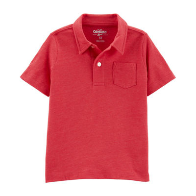 Oshkosh Boys Spread Collar Short Sleeve Polo Shirt - Toddler
