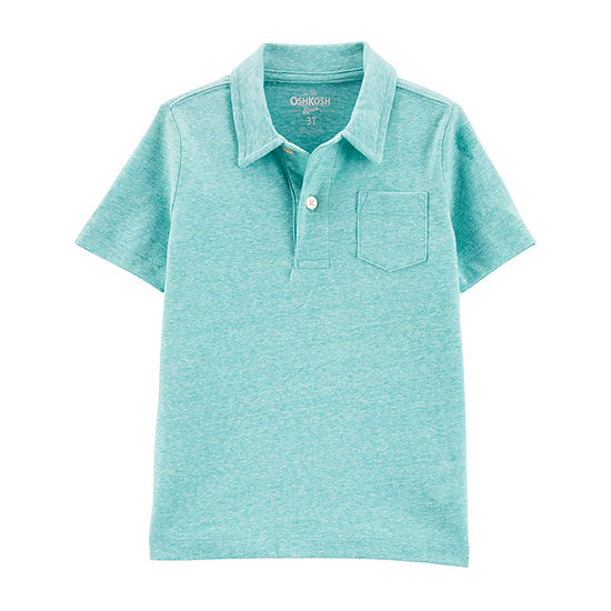 Oshkosh Boys Spread Collar Short Sleeve Polo Shirt - Toddler