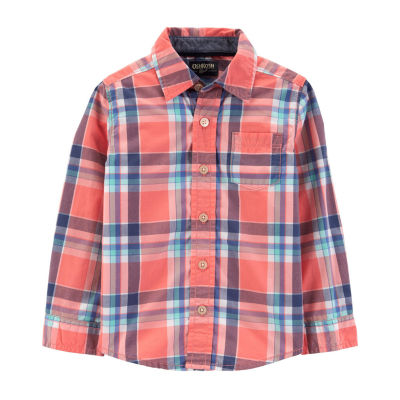 Oshkosh Boys Long Sleeve Button-Front Shirt Toddler