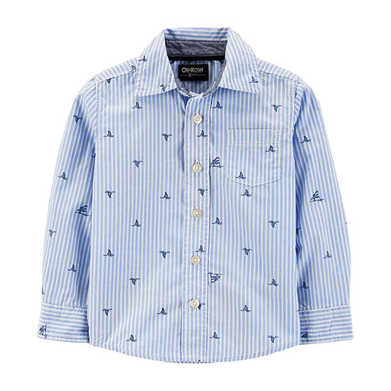 5e0ce298 Oshkosh Boys Long Sleeve Button-Front Shirt Toddler - JCPenney