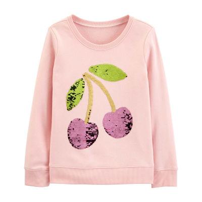 Oshkosh Long Sleeve Sweatshirt - Preschool Girls
