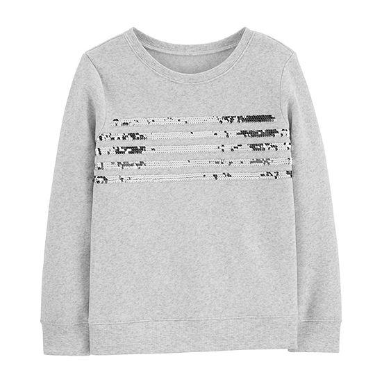 Oshkosh Girls Long Sleeve Sweatshirt - Preschool