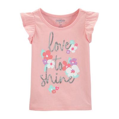 Oshkosh Round Neck Short Sleeve T-Shirt - Toddler Girls