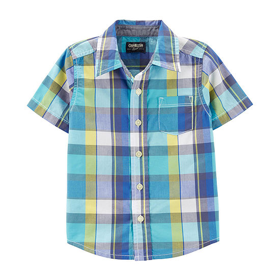 8710c1bd Oshkosh Boys Short Sleeve Button-Front Shirt Toddler - JCPenney