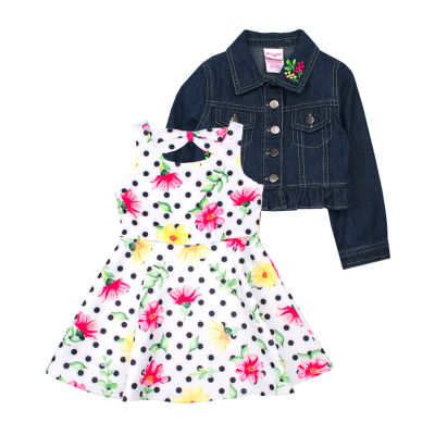 Nanette Baby 2-pc. Jacket Dress Toddler Girls