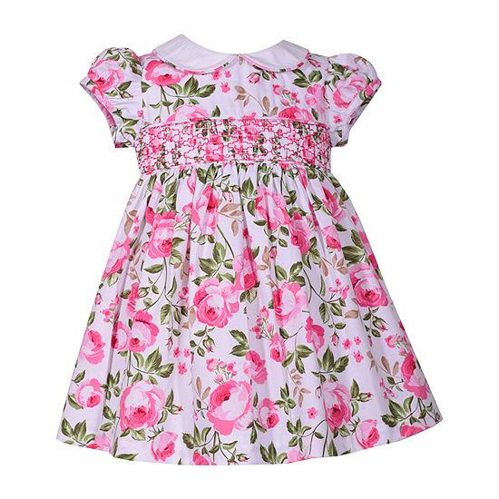 Bonnie Jean Girls Short Sleeve Floral A-Line Dress - Toddler