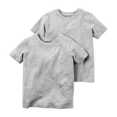Carter's Carter'S 2-Pk. Grey Undershirts - Preschool Boy Round Neck Short Sleeve T-Shirt Boys