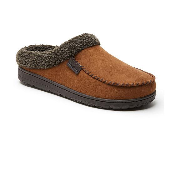 Dearfoams Microsuede Moc Toe Clog With Berber Cuff