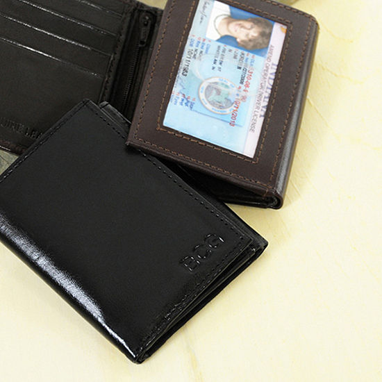 6d59cc7e6ea1 Cathy's Concepts Personalized Tri-Fold Genuine Leather Wallet - JCPenney